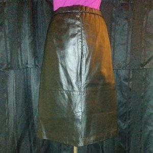 Terry Lewis Classic Luxuries Vintage Leather Skirt